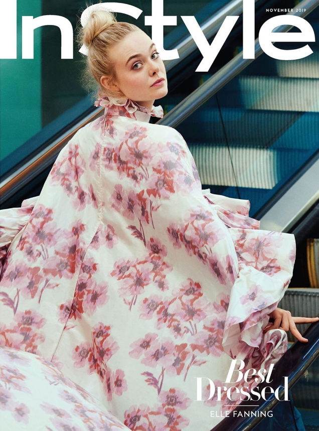 US InStyle November 2019 : Elle Fanning by Pamela Hanson