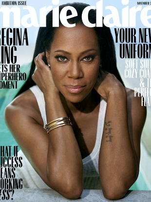 US Marie Claire November 2019 : Regina King by Thomas Whiteside
