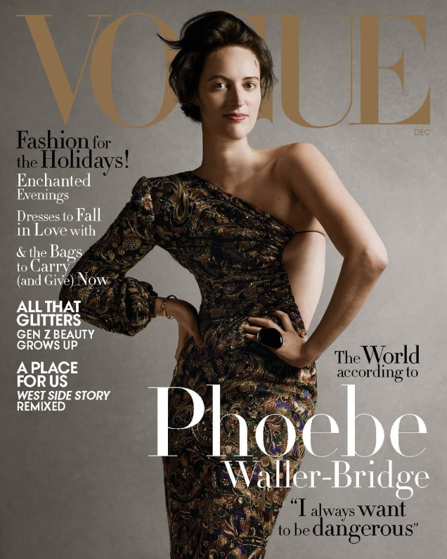 US Vogue December 2019 : Phoebe Waller-Bridge by Ethan James Green