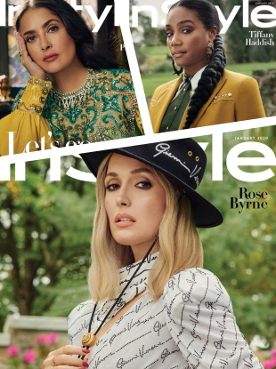 US InStyle January 2020 : Salma Hayek, Tiffany Haddish & Rose Byrne by Robbie Fimmano