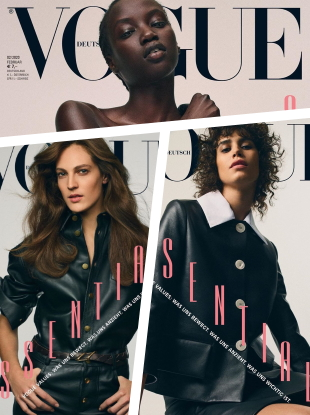 Vogue Germany February 2020 : Anok Yai, Mica Arganaraz & Othilia Simon by Gregory Harris