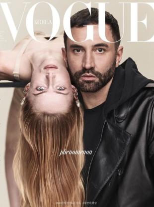 Vogue Korea February 2020 : Riccardo Tisci & Rianne van Rompaey by Luigi & Iango