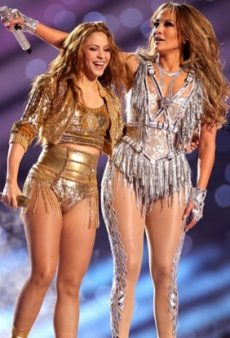 Jennifer Lopez Wears Versace for Her Epic Super Bowl Halftime Performance