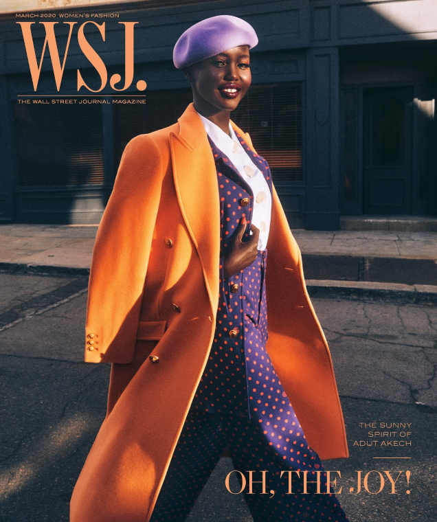 WSJ Magazine March 2020 : Adut Akech by Mikael Jansson