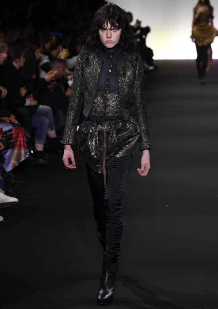 Jake Junkins at Ann Demeulemeester Fall 2020