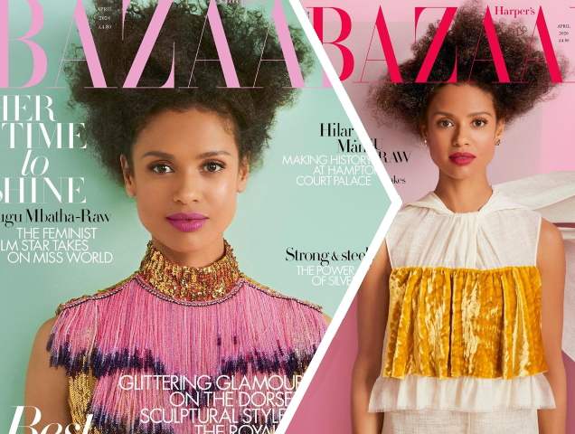 Gugu Mbatha-Raw Stars on a Set of 'Simple and Stunning' April 2020 Covers for British Harper's Bazaar