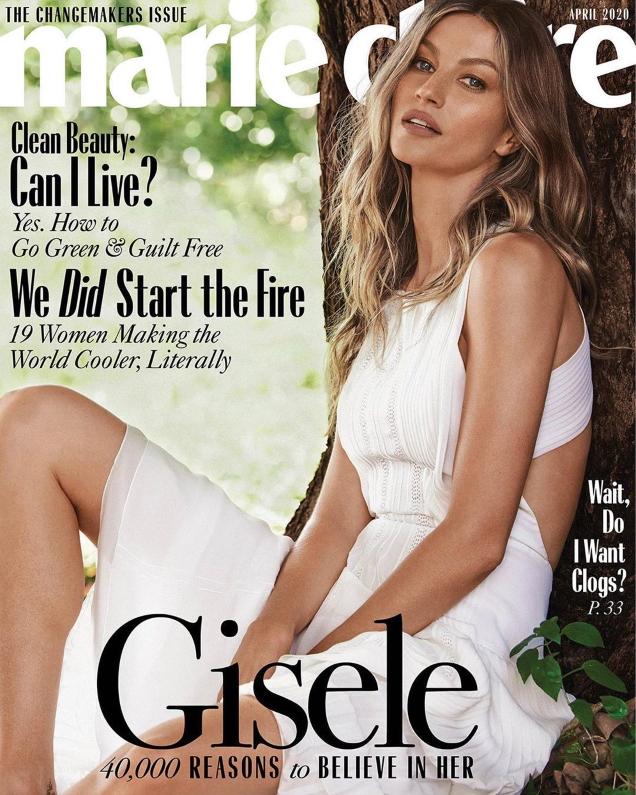 US Marie Claire April 2020 : Gisele Bündchen by Nino Munoz