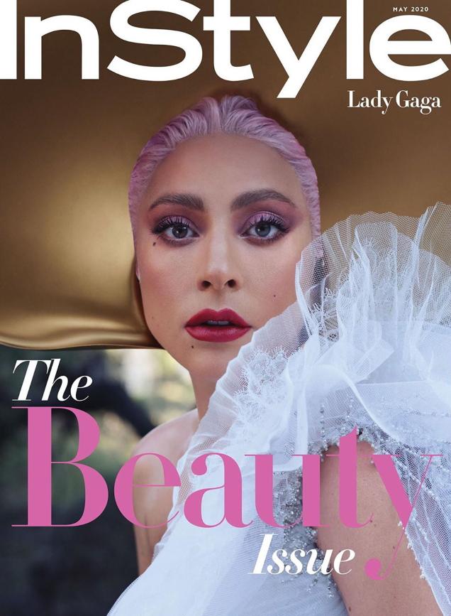 US InStyle May 2020 : Lady Gaga by Nathaniel Goldberg