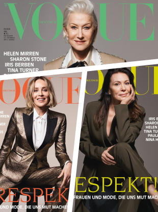 Vogue Germany May 2020 : Helen Mirren, Sharon Stone & Iris Berben by Liz Collins