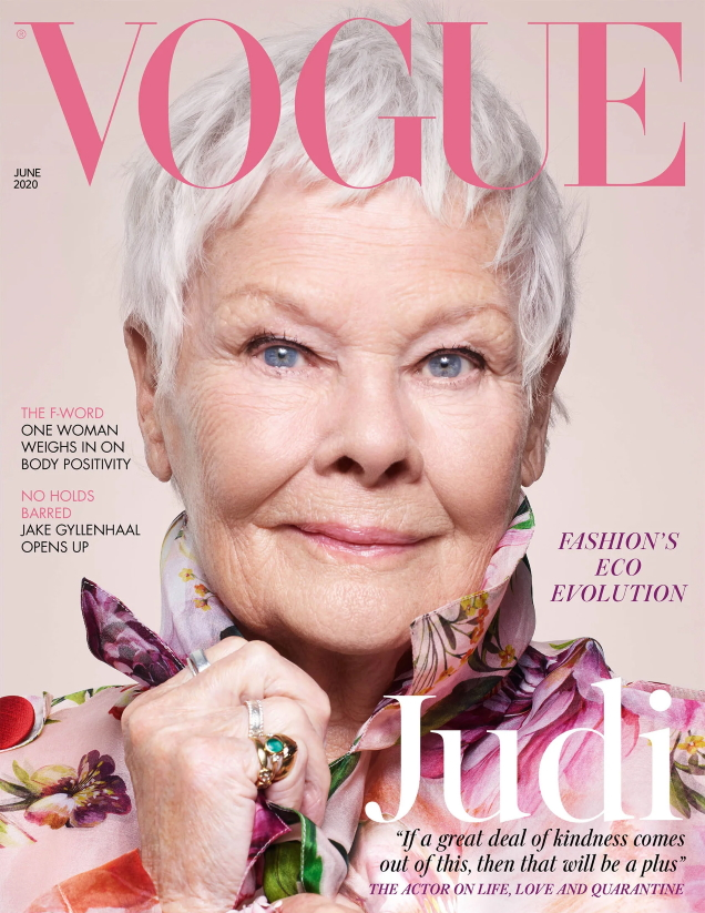 UK Vogue June 2020 : Judi Dench by Nick Knight