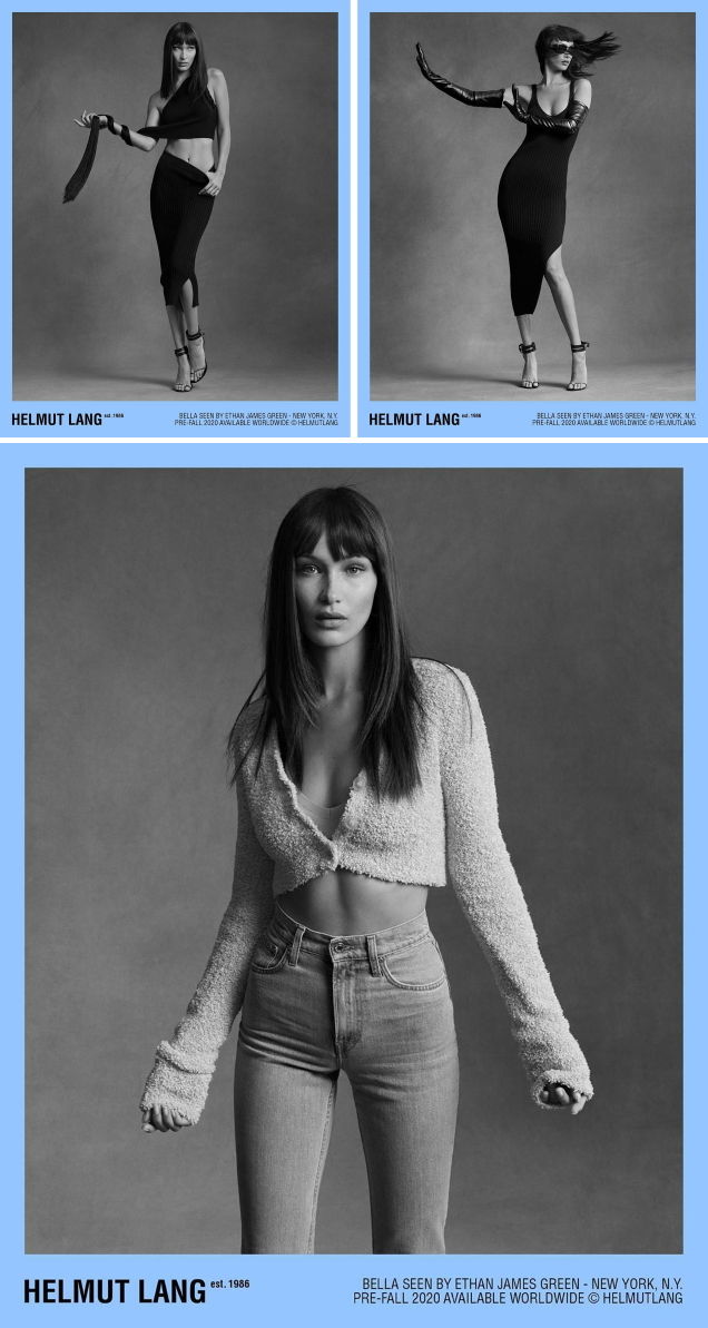 Helmut Lang Pre-Fall 2020 : Bella Hadid by Ethan James Green