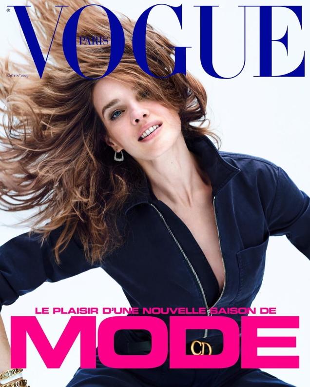Vogue Paris August 2020 : Natalia Vodianova by Nathaniel Goldberg