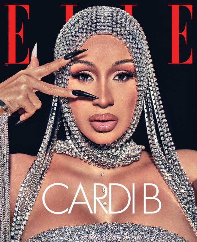 US Elle September 2020 : Cardi B by Steven Klein