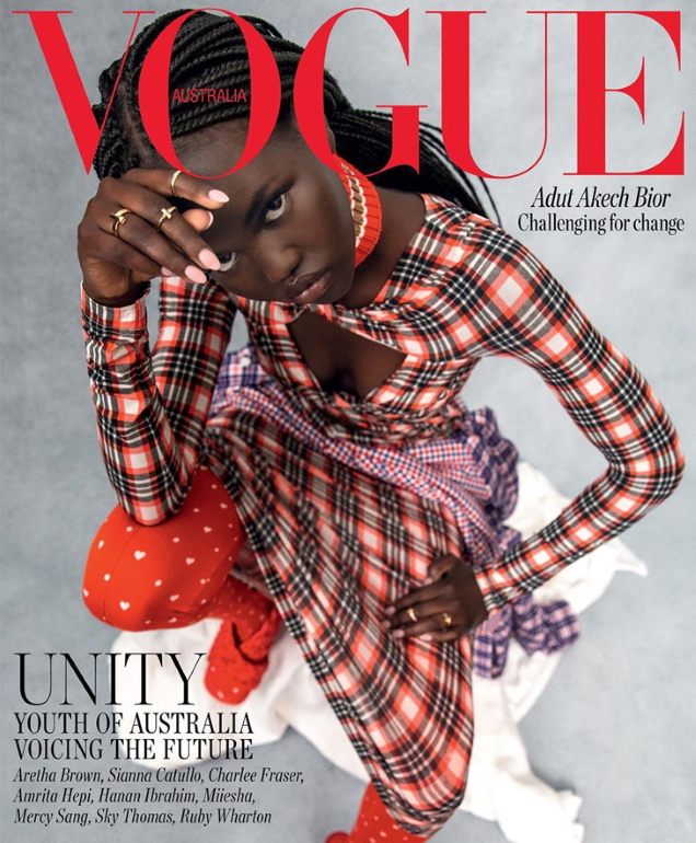 Vogue Australia August 2020 : Adut Akech by Christine Centenera