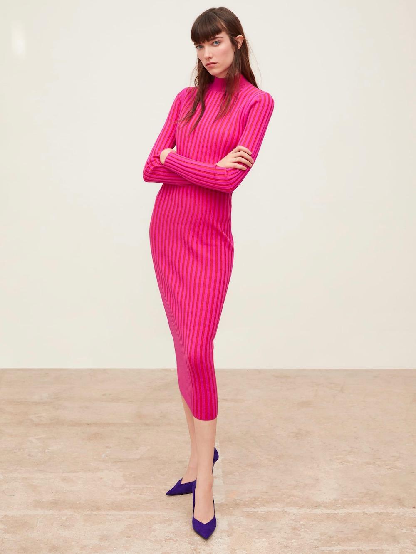 Zara  10 Versatile Dresses That Will Take You From Work to Play Zara Two Tone Knit Dress