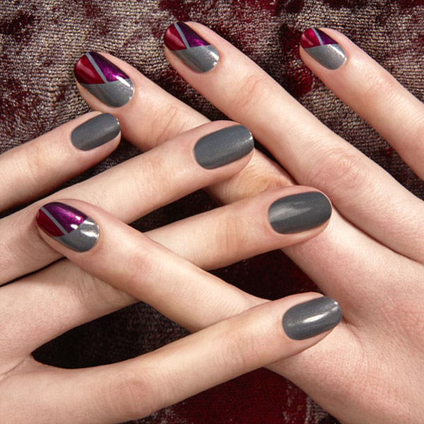 Patchwork Nails - 47 Fall Nail Art Ideas We Can't Wait To Try - TheFashionSpot