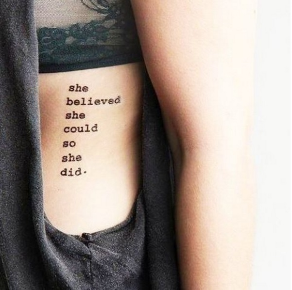 14 Rib Cage Tattoos Too Gorgeous To Cover Up Thefashionspot