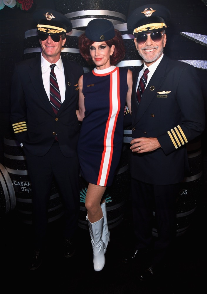 Rande Gerber, Cindy Crawford and George Clooney at the 2018 Casamigos Halloween Party at CATCH Las Vegas at ARIA Resort & Casino