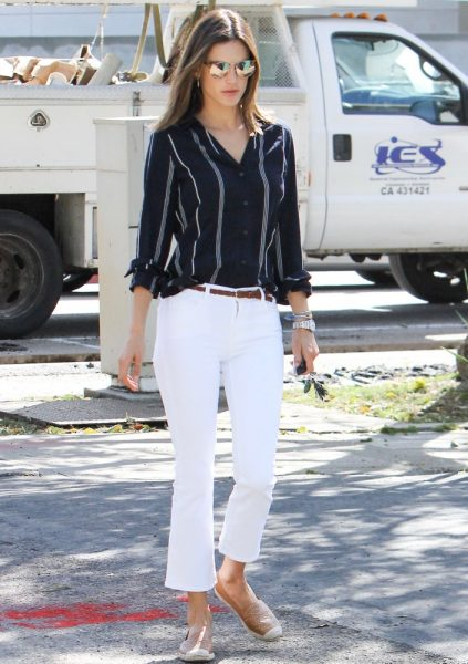 White Jeans Outfit Ideas How Celebs Rock White Jeans Thefashionspot
