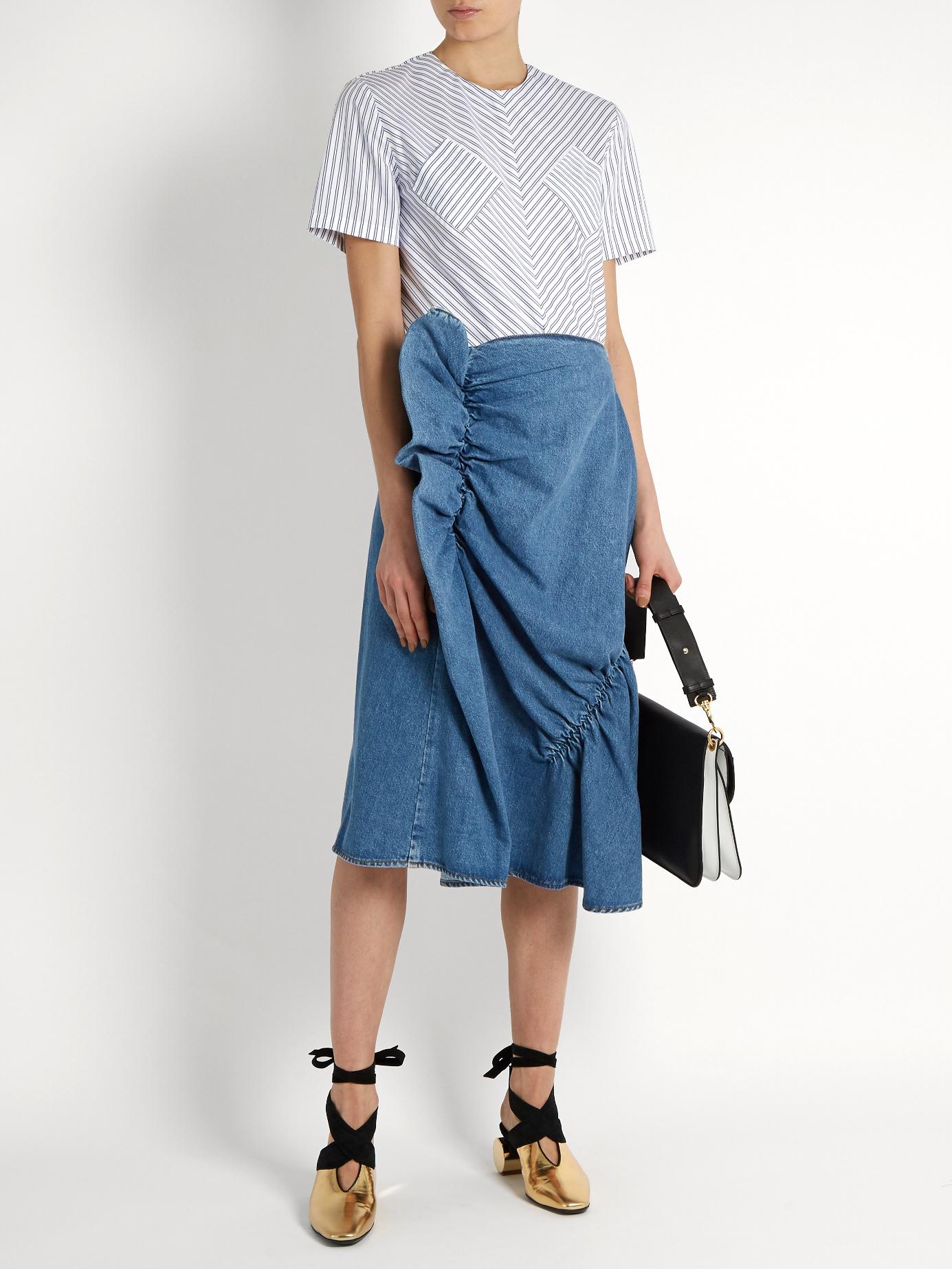 68f5e7e875 Zara Denim Skirt With Red Pockets – DACC