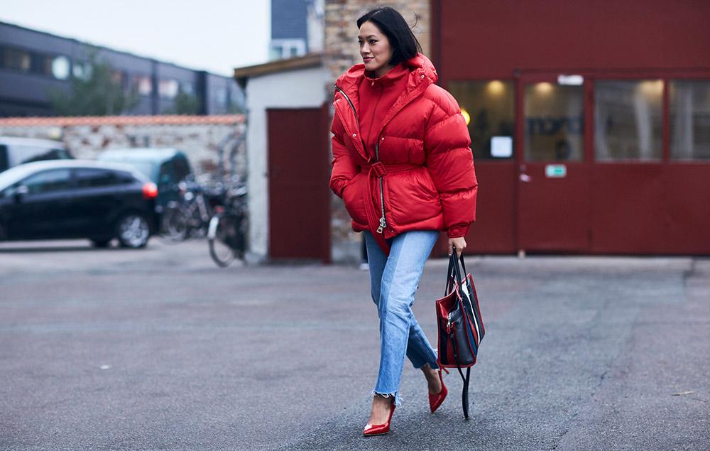 7f2aa4d4 13 Non-Frumpy Ways to Wear Puffer Coats - theFashionSpot