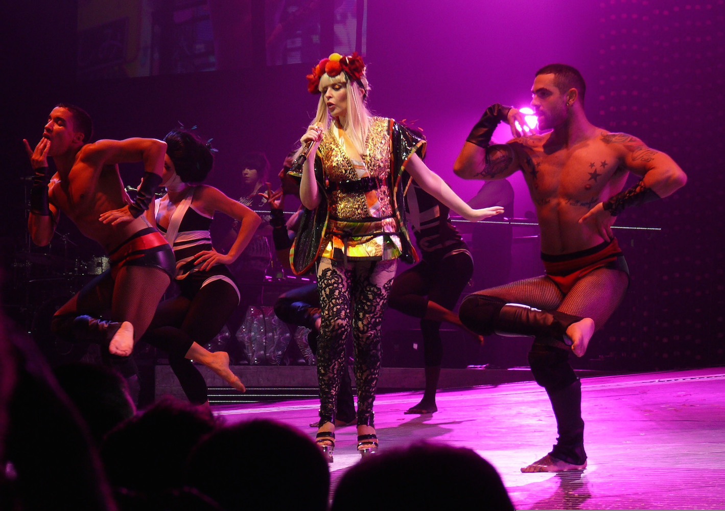 Minogues kylie greatest showgirl outfits time new photo