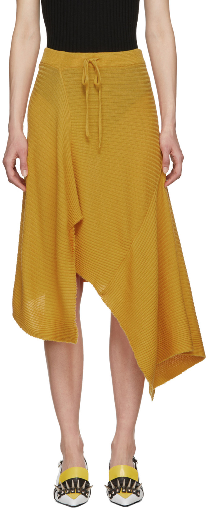 Marques'Almeida  27 Midi Skirts You Need in Your Closet ASAP Marques Almeida Draped Skirt