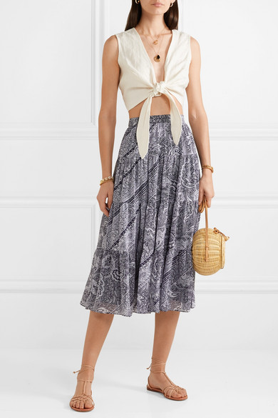 MICHAEL Michael Kors  27 Midi Skirts You Need in Your Closet ASAP Michael Kors Pleated Crepe Skirt
