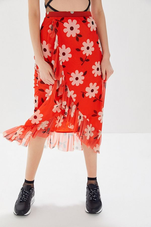 Urban Outfitters  27 Midi Skirts You Need in Your Closet ASAP UO Edie Floral
