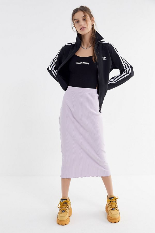 Urban Outfitters  27 Midi Skirts You Need in Your Closet ASAP UO Kayla Ribbed