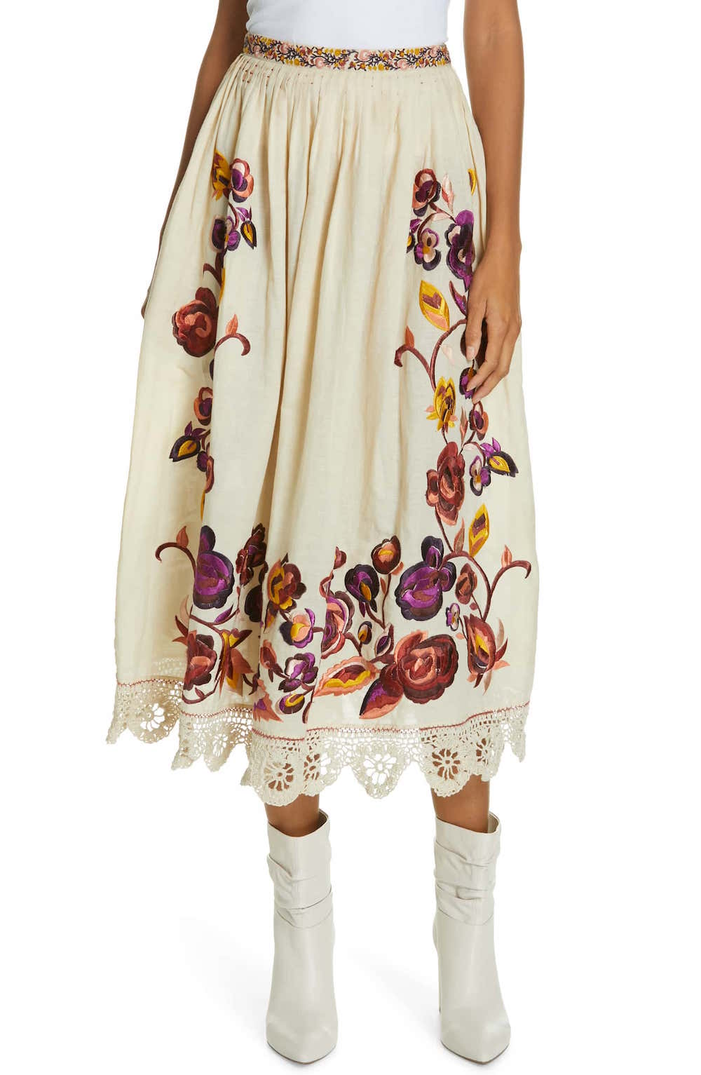 Ulla Johnson  27 Midi Skirts You Need in Your Closet ASAP Ulla Johnson Floral