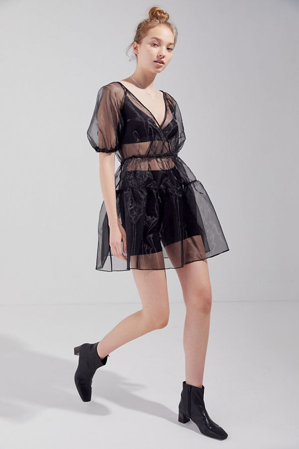 Out From Under  The Most Unpredictable Spring Trends to Add to Your Closet Out From Under Azalea Sheer Organza Slip Dress