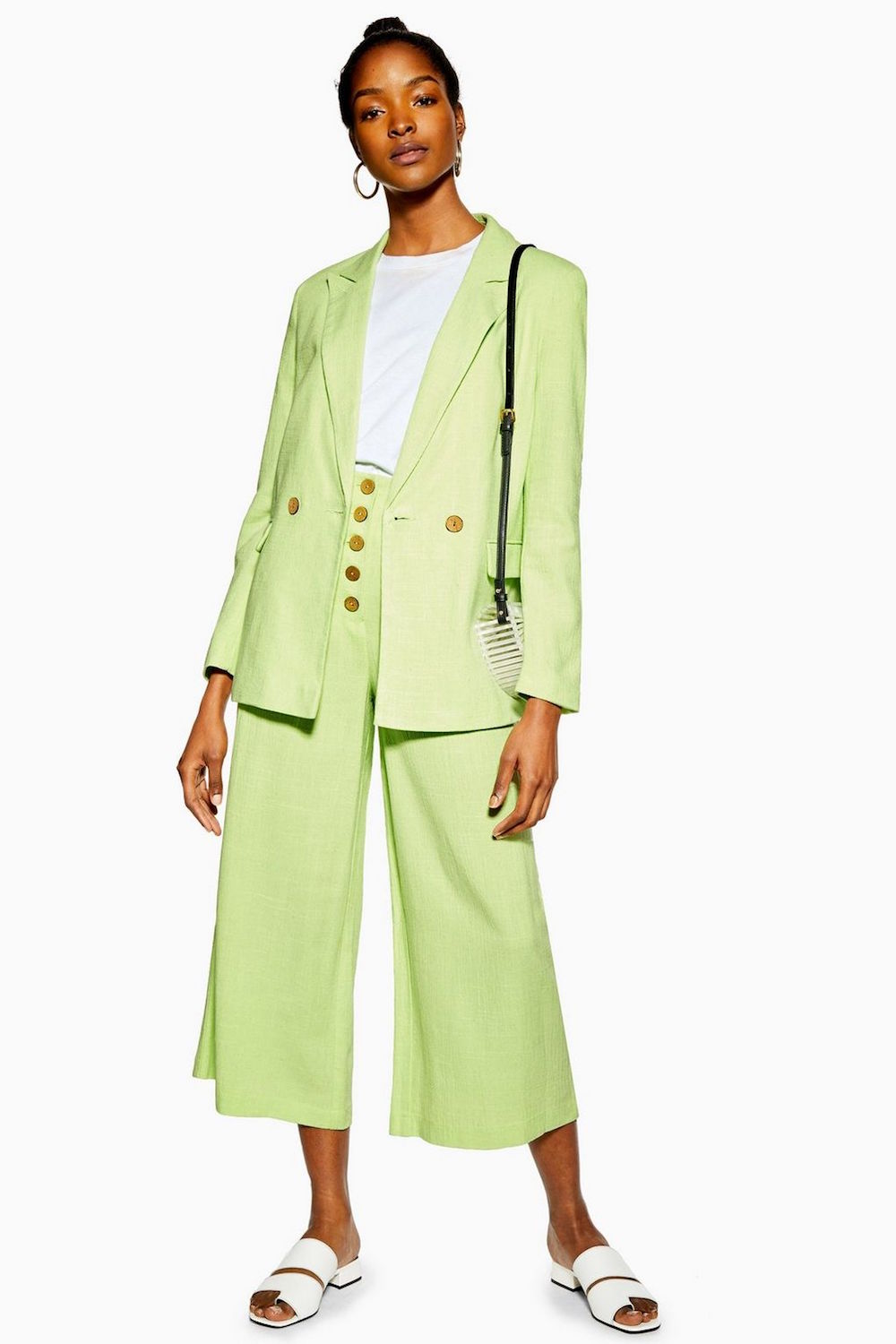Topshop  The Most Unpredictable Spring Trends to Add to Your Closet Topshop Apple Green Suit